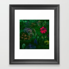 Gathering of Flowers - [Green Version] Framed Art Print