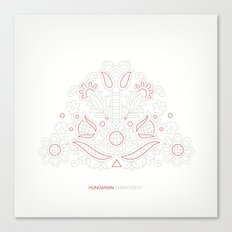 Hungarian Embroidery no.14 Canvas Print