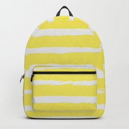 Irregular Stripes Yellow Backpack