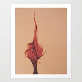 Flaming Tree Art Print