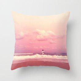 A Dip in the Sea Throw Pillow