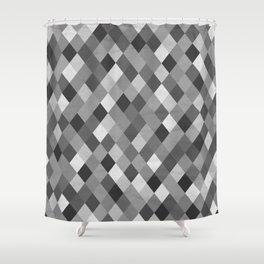Black and White Harlequin Shower Curtain