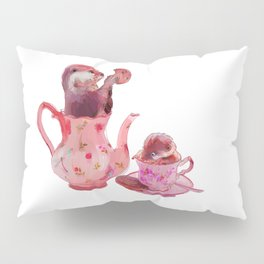 Otter Tea and Biscuits Pillow Sham