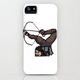 Central Asian Archer (transparent) iPhone Case