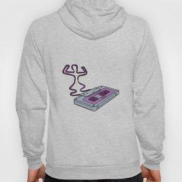 Compact Cassette Tape Raising Up Arm Mono LIne Hoody