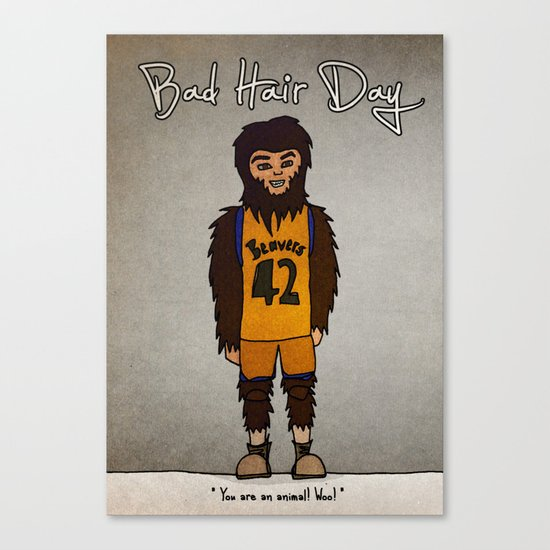 bad hair day no:2 / Teen Wolf Canvas Print