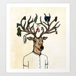 Evicted deer Art Print