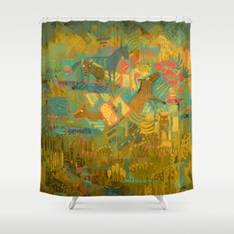 Ever Since That Day the Horses Have Been Happier Shower Curtain