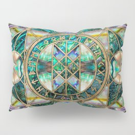 Web of Wyrd The Matrix of Fate -Abalone Shell Pillow Sham