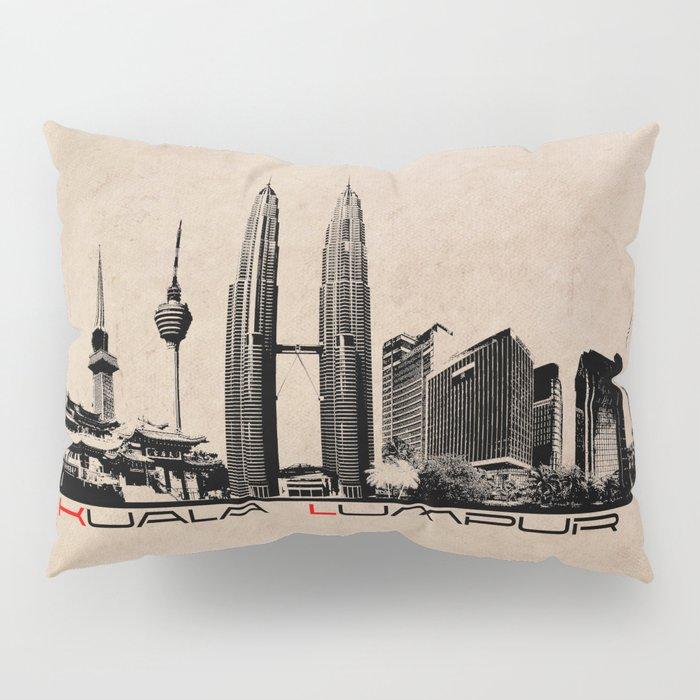 Kuala Lumpur skyline Pillow Sham