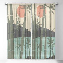 Bamboo curtain Sheer Curtain