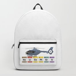 Civil Helicopters Chemistry Backpack