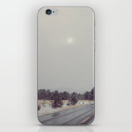Colorado Road Trip in the Snow iPhone Skin