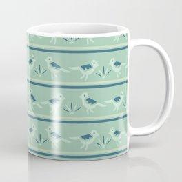 Tiny Birds Dotty Stripes Seamless Pattern Coffee Mug