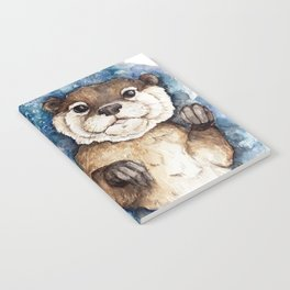 Watercolor Otter Notebook