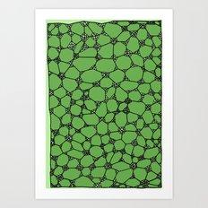 Yzor pattern 006-4 kitai green Art Print
