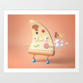 Pizza Fart Art Print