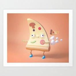 Pizza Fart Art Print