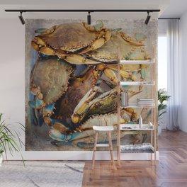 Blue Crabs Wall Mural