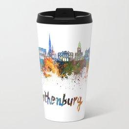 Gothenburg skyline in watercolor Travel Mug