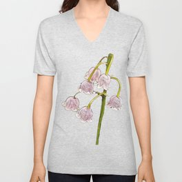 Lily Of The Valley Convallaria majalis woodland flowering Unisex V-Neck