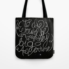 Peter Pan Quote Tote Bag
