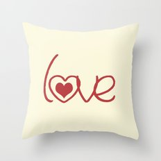Red Love  Throw Pillow