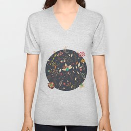 Flower pattern 02 Unisex V-Neck