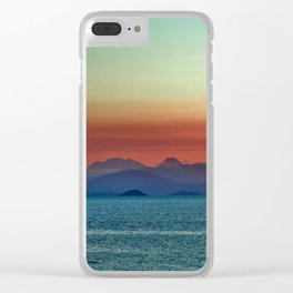 Sunset on Lake Taupo Clear iPhone Case