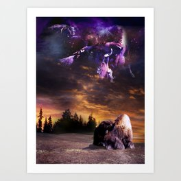 Bufalo Nights Art Print