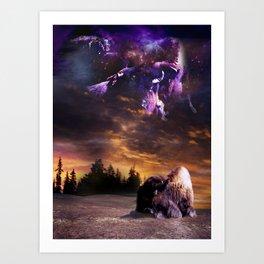 Bufalo Nights Art Print