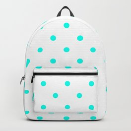 Polka Dots Pattern: Turquoise Backpack