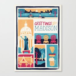 Greetings from Madison Canvas Print