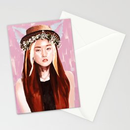 4minute Gayoon kpop beautiful painting. Stationery Cards