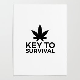 Weed Cannabis leaf gift idea 420 Poster