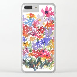 Many Flowers Clear iPhone Case