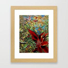 The Red Flower: Julie Northey Framed Art Print