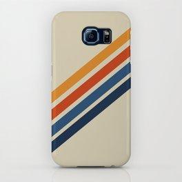 Retro 70s Stripe Colorful Rainbow Tan Classic Vintage iPhone Case