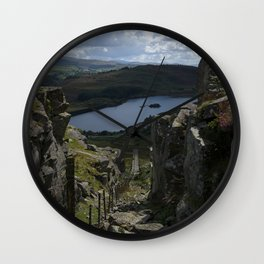 Views Towards The Tanygrisiau Reservoir Wall Clock