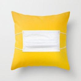 Face Mask Throw Pillow