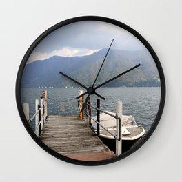Lugano Lake - deck view Wall Clock