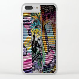 Graffiti Lines Clear iPhone Case