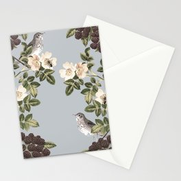 Birds and the Bees Gray Stationery Cards