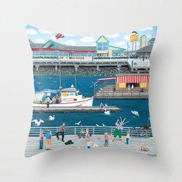 Steveston Landing Throw Pillow
