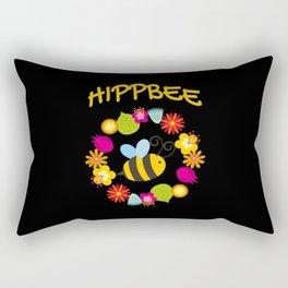 Hippie Bee Rectangular Pillow
