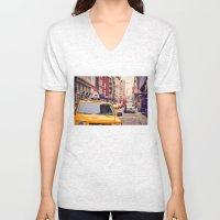 NYC Yellow Cab Unisex V-Neck
