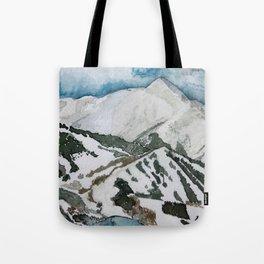 Snowmass Ski Area Watercolor Tote Bag