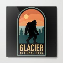 Bigfoot Glacier National Park Metal Print