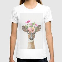 Deer Flower T-shirt
