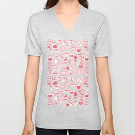 Pattern Project #8 / Things (red) Unisex V-Neck